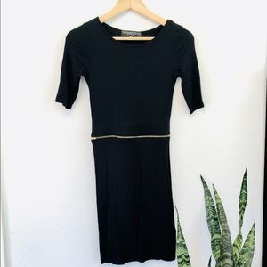 Topshop Petite Short-Sleeved Black Dress -…